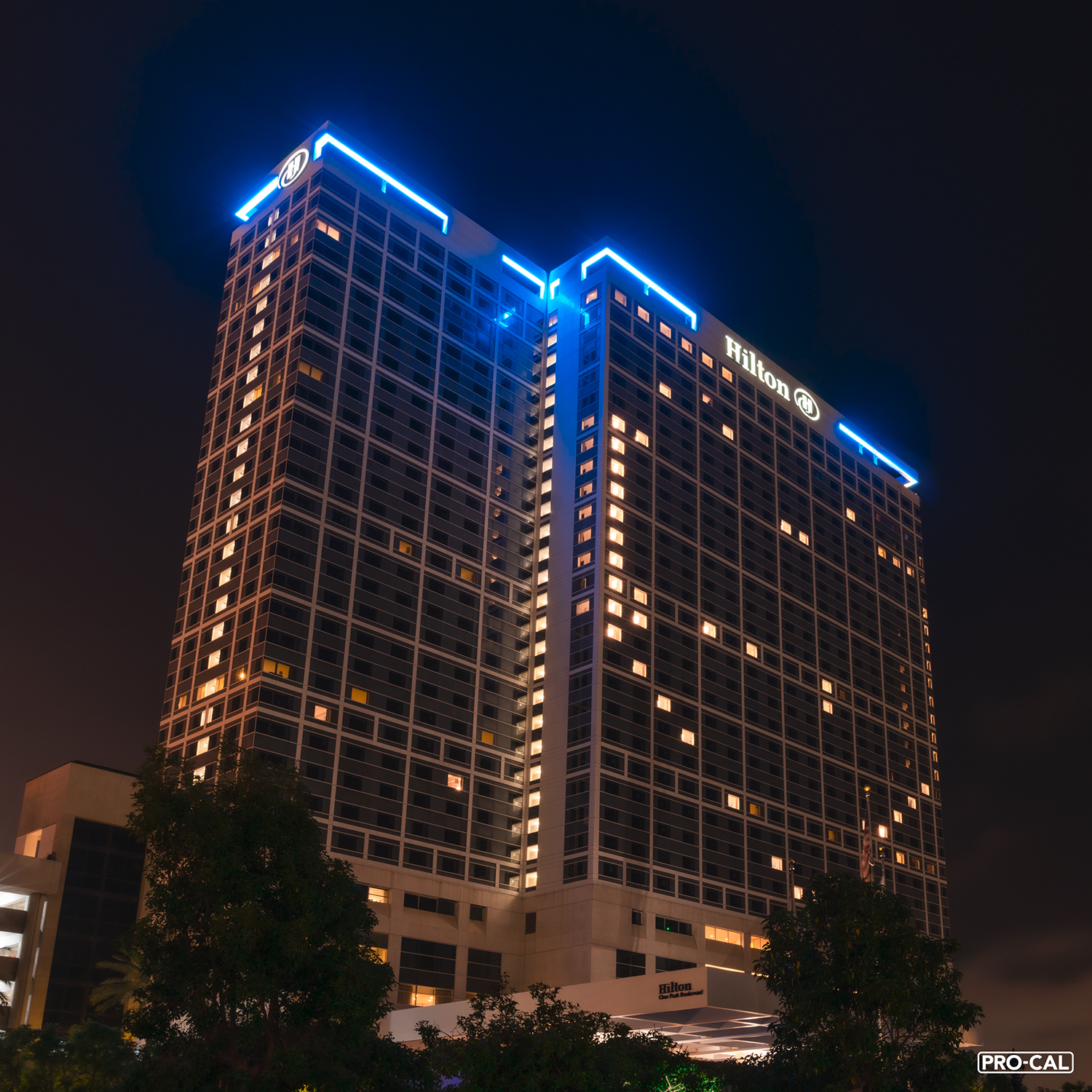 The Hilton San Diego Bayfront Hotel now crowned in Color Kinetics